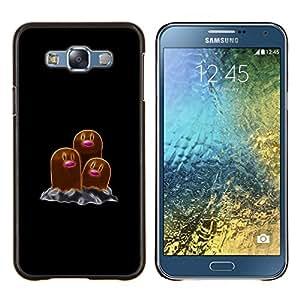 TECHCASE---Cubierta de la caja de protección para la piel dura ** Samsung Galaxy E7 E700 ** --Meter Monster Marrón