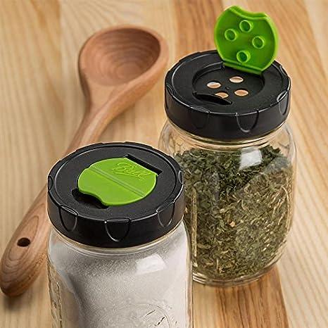 Set de tres auténtica bola 16 oz coctelera de Mason Jar con tapa dispensador de para hierbas, especias, queso rallado, Julissa Mora, tuercas, etc.