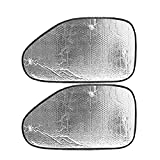 Ocamo 2 Pcs Silver Auto Car Side Window Sun Visor Shade Block Cover with Suckers
