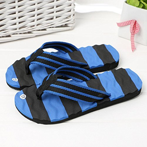 Jaminy Unisex Men's Flip-Flops Women's Slippers Beach Sandals Casual Shoes Indoor Outdoor Flat Slippers Blue Xqftwx