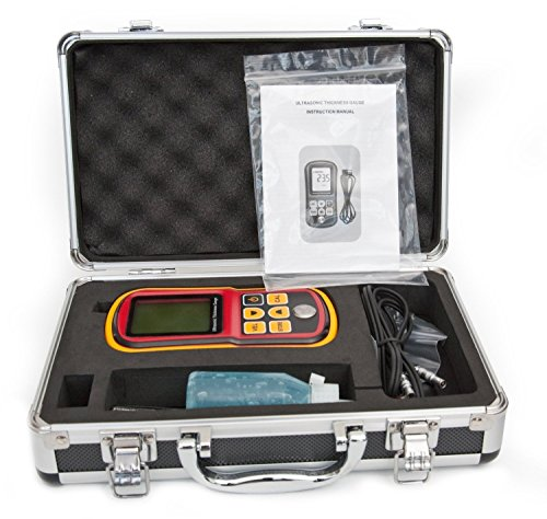 Tester Ultrasonic Thickness (DecentGadget® Ultrasonic Thickness Meter Tester Gauge Velocity 1.2~225mm Metal Wave)