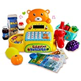 Gili Math Learning Toy for Preschool, Grocery Store Cash Register Pretend Play Set for Kids Age 3+