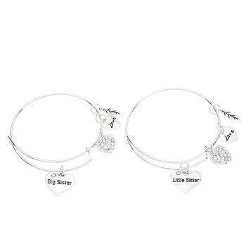 Sister Bangle Bracelet Set- Big Sister and Litttle Sister Bracelet Set- Sister Jewelry- Perfect Gift for Sisters