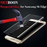 NETBOON® Premium Quality Tempered Glass Full Screen Protector for Samsung Galaxy S6 edge - Clear