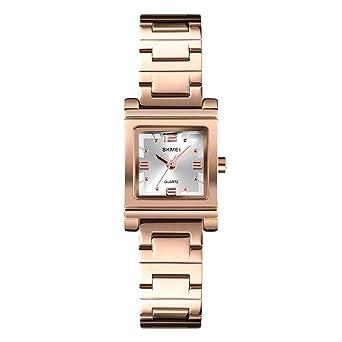 Amazon.com: Reloj de pulsera cuadrado de cuarzo con esfera ...