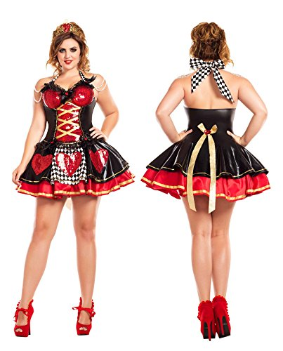 Off with their Heads Queen of Hearts Plus Size Adult Costume - Plus Size 3X -