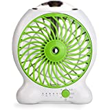 Ocyclone USB Mini Misting Fan for Beauty Travel Camp as Personal Fan Table Fan (Green)