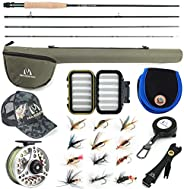 Maxcatch Extreme Fly Fishing Combo Kit 3/5/6/8 Weight, Starter Fly Rod and Reel Outfit, with a Protective Trav