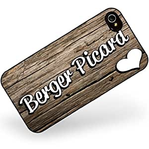 Rubber Case for iphone 4 4s Berger Picard, Dog Breed France - Neonblond