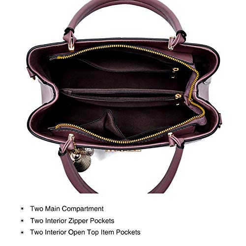 Purses and Handbags for Women PU Leather Top Handle Satchel Ladies Shoulder Tote Bags