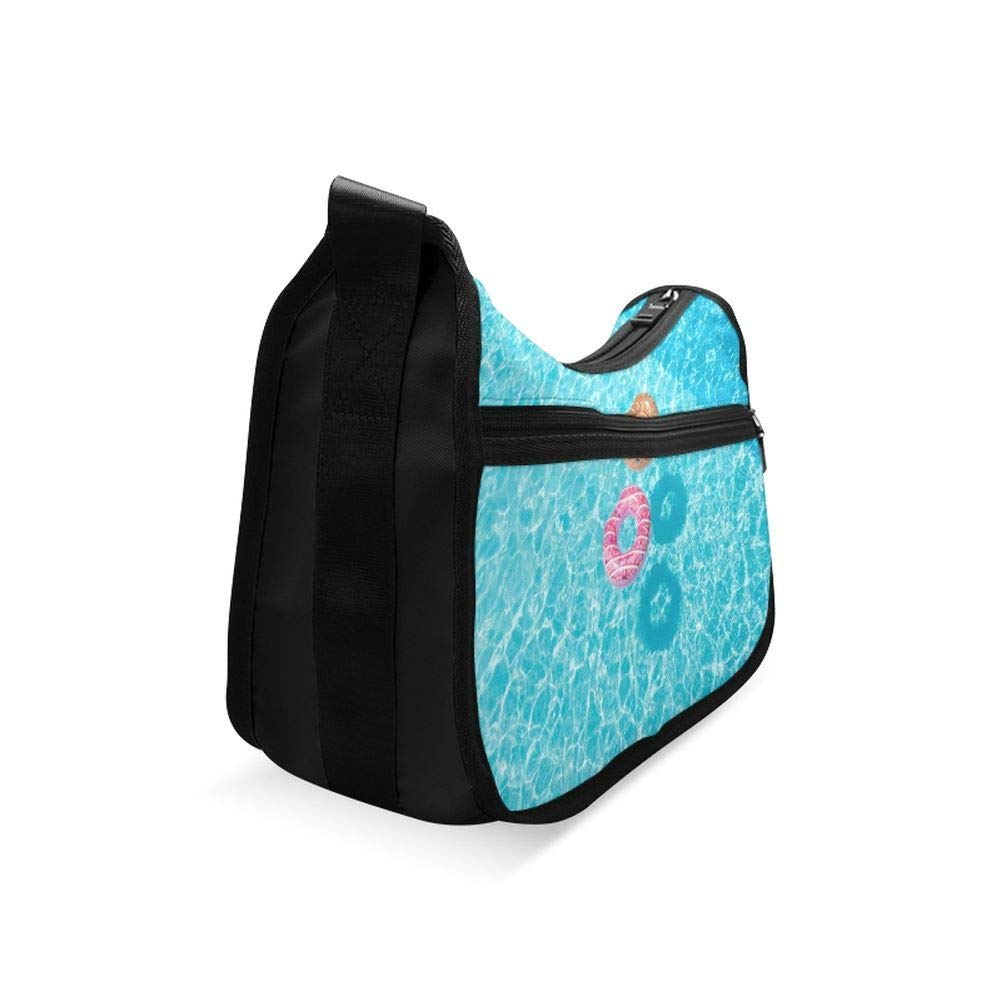Girls In The Swimming Pool Messenger Bag Crossbody Bag Large Durable Shoulder School Or Business Bag Oxford Fabric For Mens Womens