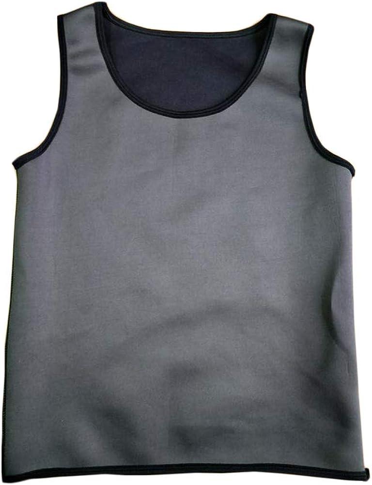 Faja Reductora Adelgazante Hombre Chaleco Gimnasio Camiseta Deportivo Pérdida De Peso Gris L: Amazon.es: Ropa y accesorios