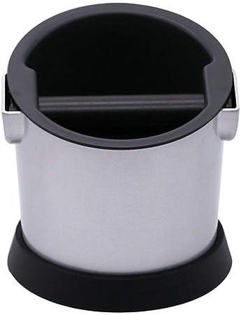 Lwieui Café de Knock Box Capacidad de café pequeña Caja de Discos Removibles Cafetera Electrodomésticos Apoyo de Hogares pisones (Color : Silver, Size : 15x15.5x15.5cm): Amazon.es: Hogar