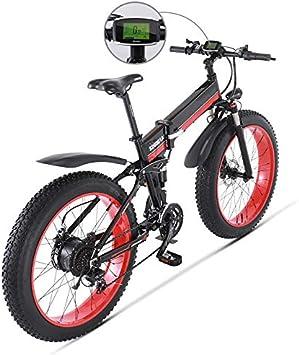 SHIJING Bicicleta eléctrica 1000W eléctrica Bici de la Playa 4.0 ...