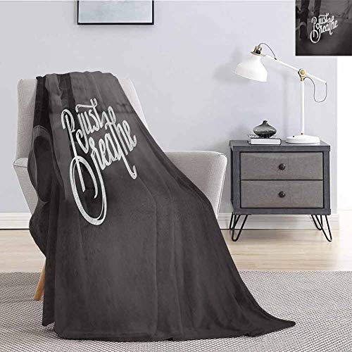 Luoiaax Just Breathe Bedding Microfiber Blanket Teenager in Sneakers Walking on a Street Youth Culture Urban Scene Super Soft and Comfortable Luxury Bed Blanket W91 x L60 Inch Charcoal Grey White (Best Sneaker Stores In Seattle)