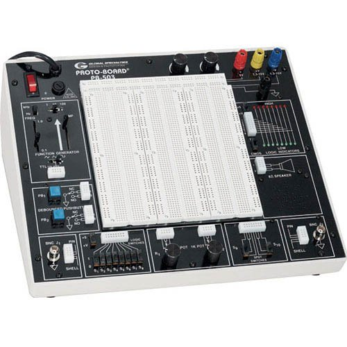 Global Specialties PB-503 Deluxe Analog and Digital Design Workstation, 0 to +/-10V, 16