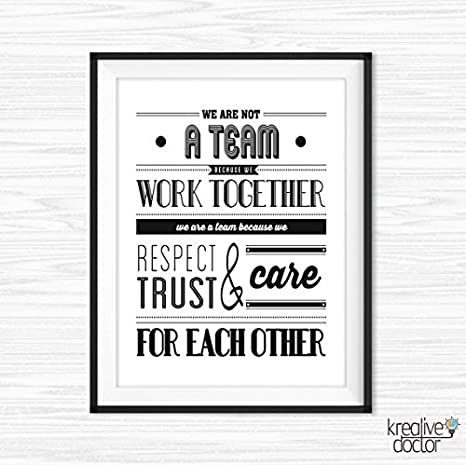 graphic regarding Free Printable Inspirational Posters named : Teamwork Quotations For Business office Wall Artwork Printable