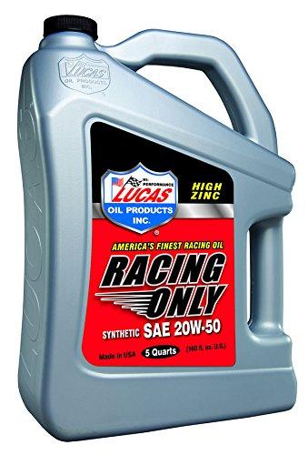 Lucas Oil製品luc10616合成レースオイル、5クォート、1パック B0053WHWEM