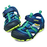 UOVO Boys Sandals Kids Sandals Hiking Athletic Closed-Toe Beach Summer Sandals for Boys Quick-Drying Blue