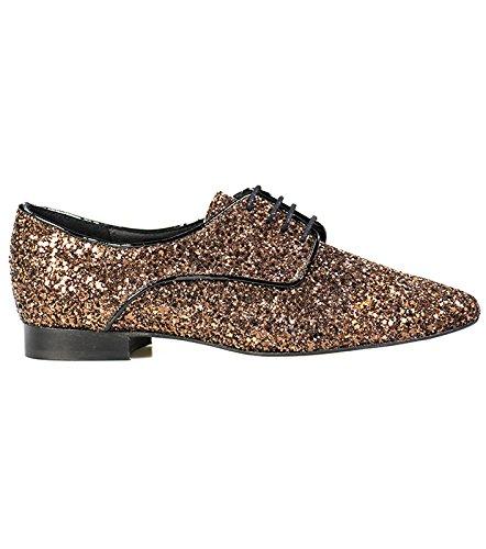 En Pailleté Femme Couleur Souleiado Chaussures Cuir À Bronze Lacets hrsQdBCotx