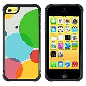 LASTONE PHONE CASE / Suave Silicona Caso Carcasa de Caucho Funda para Apple Iphone 5C / Color Bubbles