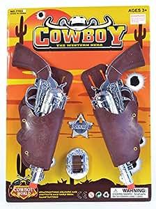 Bristol Novelty - Juego infantil de pistolas de vaquero y placa
