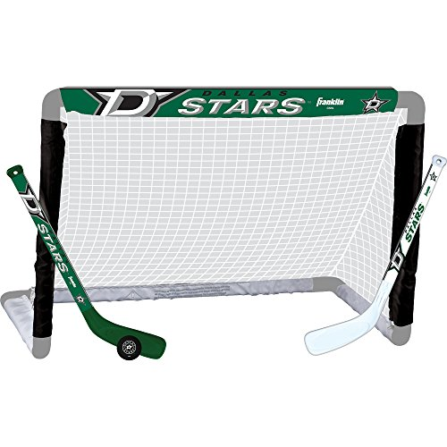 Franklin Sports NHL Dallas Stars Team Mini Hockey Set, Junior, Black