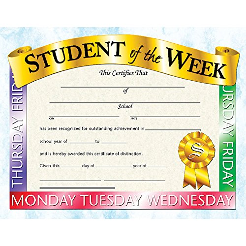 (Student Of The Week Certificate (Set of 30) )