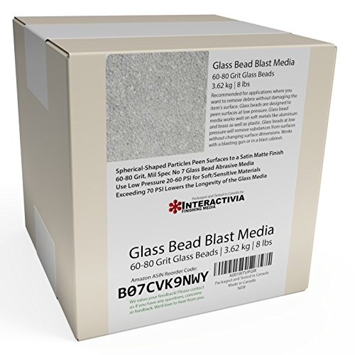 8 lb Or 3.6 kg #7 Glass Bead Blasting Abrasive Media 60-80 Grit Or Commercial Spec No 7 for Blast Cabinets Or Sand Blasting Guns