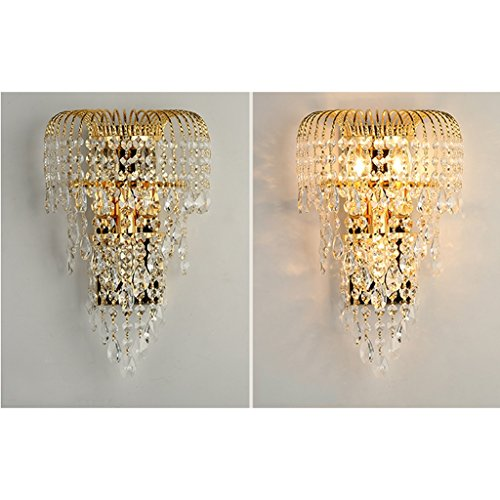MILUCE Luxury k9 crystal wall lamp led gold living room bedroom bedside dining room wall lamp European lighting by MILUCE (Image #3)
