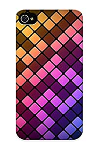 LhA151mMkDL Special Design Back Square Pattern Phone Case Cover For Iphone 4/4s
