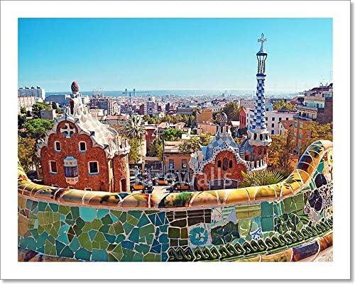 Park Guell in Barcelona Canvas Art Cheap Print