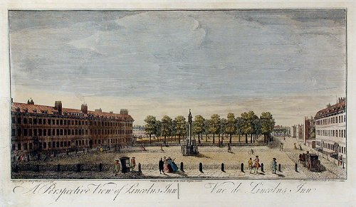 A Perspective View of Lincolns Inn, London