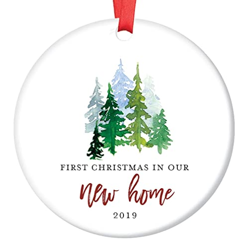 Amazoncom New Home Ornament 2019 1st Christmas In Our New