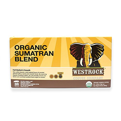 Westrock Coffee Company Organic Certified Sumatran Blend Dark Roast Gourmet Coffee Single Serve Cups 80 Count