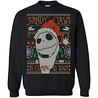 Amazoncom Jack Skellington Nightmare Before Christmas Ugly Sweater
