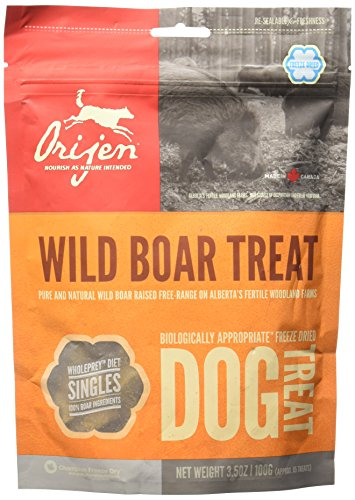 Orijen Alberta Wild Boar Singles Freeze-Dried Dog Treats, 3.5-oz bag (approx. 85 treats) (Best Dry Food For Shar Pei Puppy)