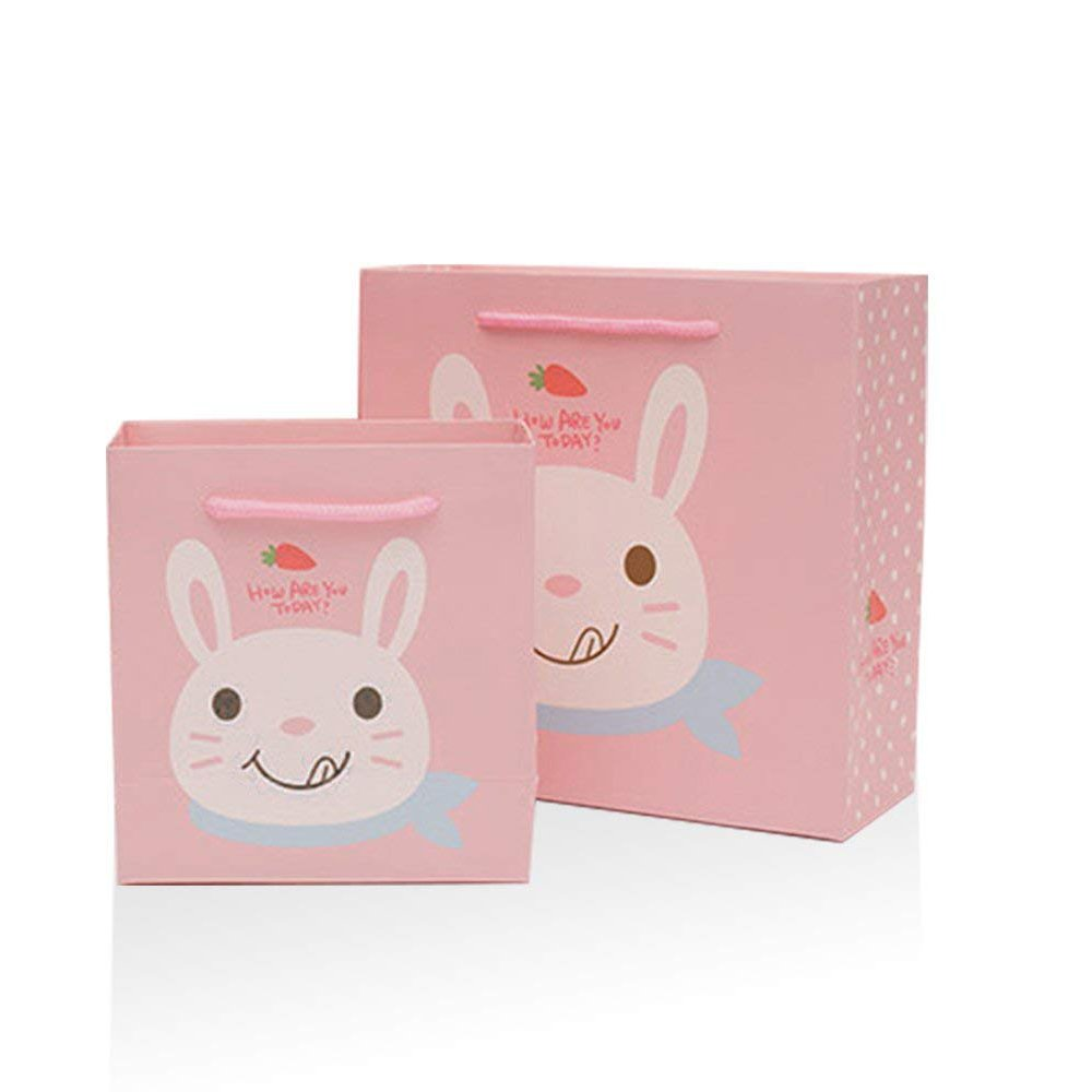 Cute Rabbit Bunny Designs Birthday Graduation Baby Shower Wedding Party Gift Bags Set of 20
