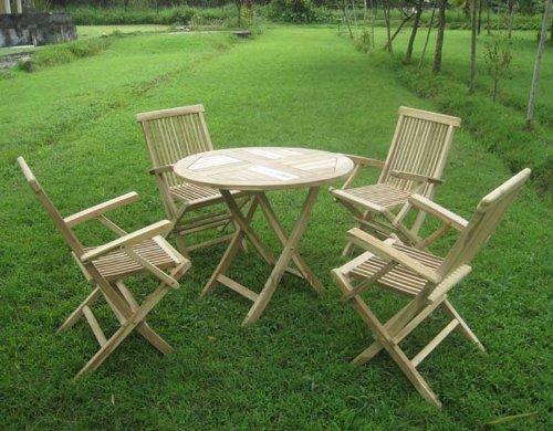 Sam Teak Holz Gartengruppe Menru 5 Teilig Garten Möbel Aus Massiv