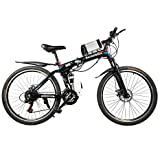 Gogo A1 Rockefeller Foldable 26 Inch Electric Mountain Bike / Bicycle With High Carbon Steel Frame | 21 Gears E-Bicycle | 26'' E-Bicycle / Ebike