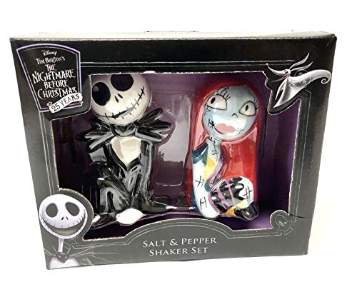 The Nightmare Before Christmas 25 Years Jack Skellington and Sally Salt and Pepper Set
