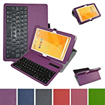 """Acer Iconia One 10 B3-A20 Bluetooth Keyboard Case,Mama Mouth Coustom Design Slim Stand PU Leather Case Cover With Romovable Bluetooth Keyboard For 10.1"""" Acer Iconia One 10 B3-A20 Android Tablet,Purple"""