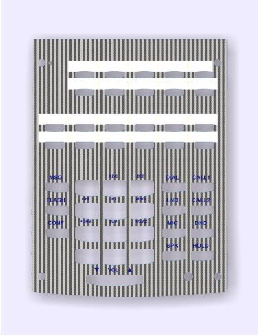 NEC DESI Laser Labels for the Aspire 22 Button Phone Stock # 0890041 ~ Silver with light strips / 25 -