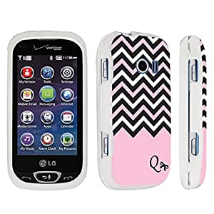 DuroCase ? LG Extravert 2 Hard Case White - (Black Pink White Chevron Q) by icecream design