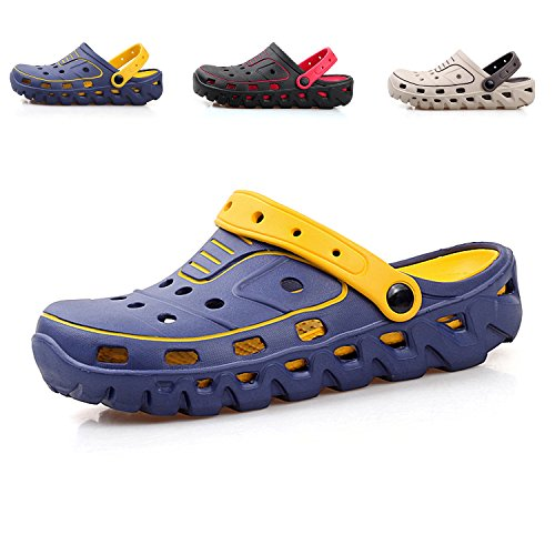 Lightweight and Garden Non Sandals Men Breathable Women Slip Blue Beach Drying Quick Shoes Shoes Drainage rwqwUxgf0
