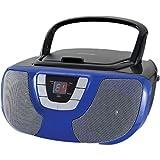 Sylvania Portable CD Player Boom Box with AM/FM Radio (Blue)