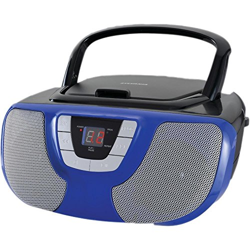 Sylvania Portable CD Player Boom Box with AM/FM Radio (Blue) (Radio Player Cd With)