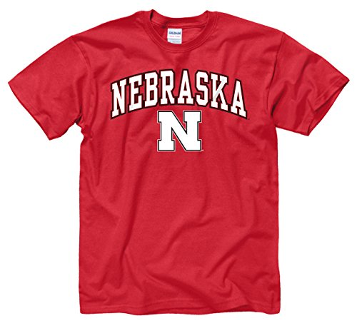Nebraska Cornhuskers Adult Arch & Logo Soft Style Gameday T-Shirt - Red