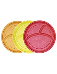 Munchkin Multi Divided Plates, 3 Count BOBEBE Online Baby Store From New York to Miami and Los Angeles
