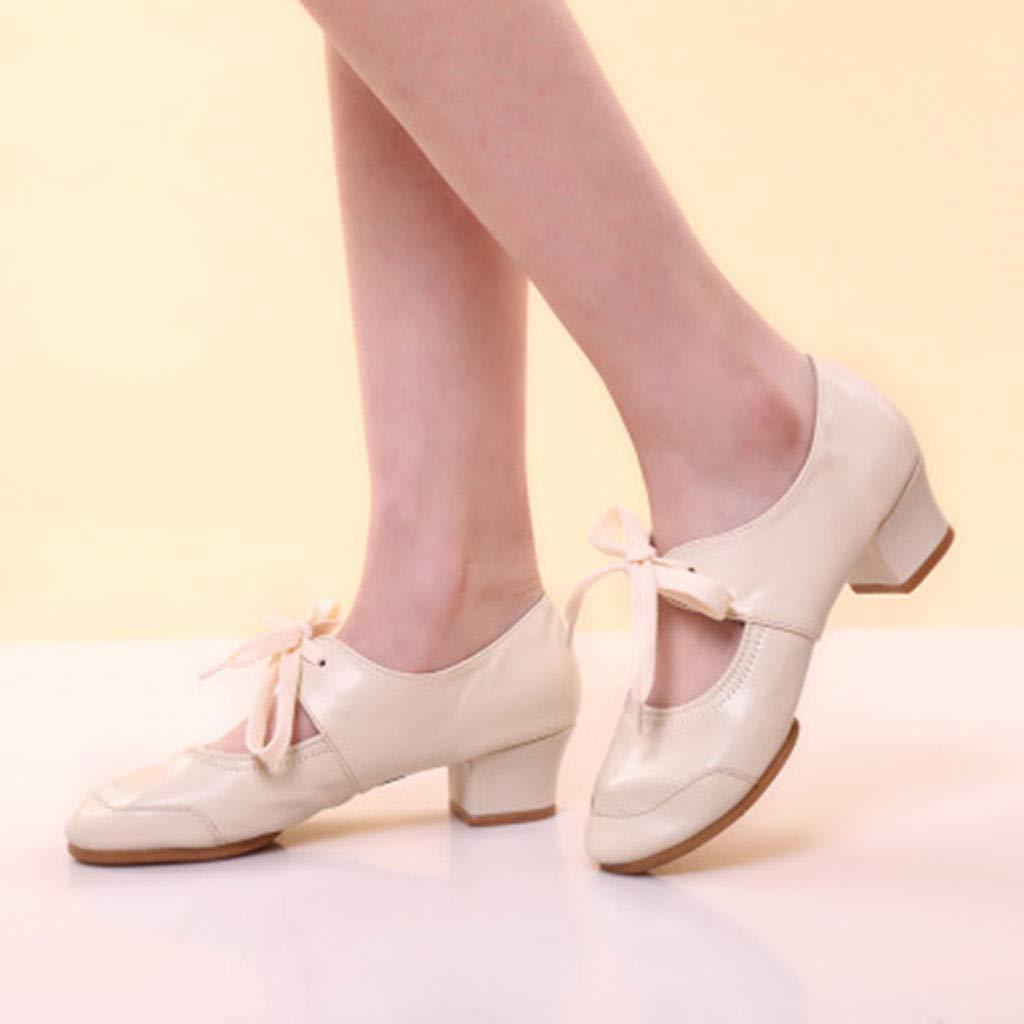 HOSOME Women Dance Singles Shoes Rumba Waltz Prom Ballroom Latin Ballet Shoes